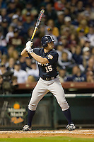 Michael Fuda #15 of the Rice Owls at bat versus the Texas A&M Aggies in the 2009 Houston College Classic at Minute Maid Park February 28, 2009 in Houston, TX.  The Owls defeated the Aggies 2-0. (Photo by Brian Westerholt / Four Seam Images)