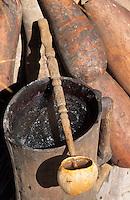 Afrique/Afrique de l'Ouest/Sénégal/Basse-Casamance/Kachouane : Vin de palme