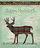 GIORDANO, CHRISTMAS SYMBOLS, WEIHNACHTEN SYMBOLE, NAVIDAD SÍMBOLOS,deer, paintings+++++,USGI2915,#xx#