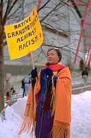 AIM protest against Redskin name at Viking football game.  Minneapolis Minnesota USA