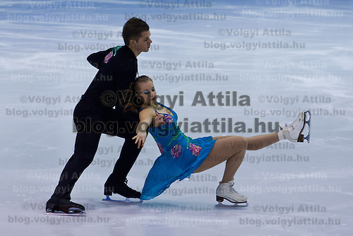 Maria Der and Daniel Majer performs during the figure skating national championships held in Budapest's Practice Ice Center. Budapest, Hungary. Sunday, 09. January 2011. ATTILA VOLGYI