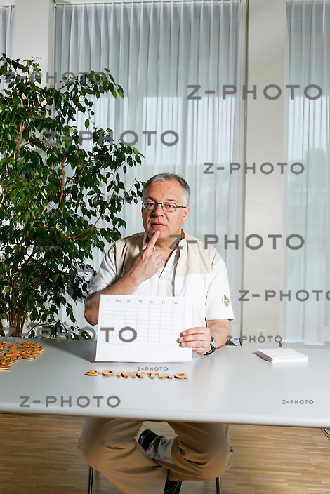 Portrait von Reto Rhinisperger, dipl. Logopaede in der Rehaklinik Bellikon, fotografiert am 11. Maerz 2011 in der Rehaklinik Bellikon..Copyright © Zvonimir Pisonic