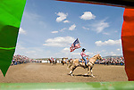 Jordan Valley Big Loop Rodeo..Rodeo opening and presentation of the colors