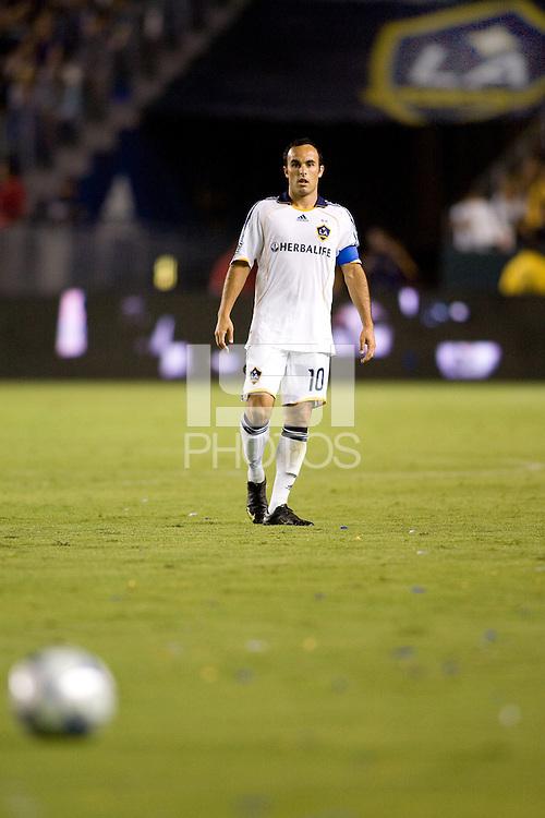 LA Galaxy's Landon Donovan. The LA Galaxy defeated T oronto FC 2-0 at Home Depot Center stadium in Carson, California on Saturday September 19, 2009...