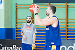 Ricky Rubio (l)  and Marc Gasol during the training of Spanish National Team of Basketball in Madrid previous to World Cup in China . August 21, 2019. (ALTERPHOTOS/Francis González)