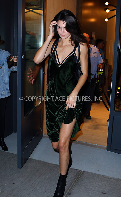 www.acepixs.com<br /> <br /> September 8 2016, New York City<br /> <br /> Kendall Jenner, Kylie Jenner, Hailey Baldwin and rapper Tyga had to be rescued by the New York Fire Department after they got trapped in an elevator in their Soho apartment on September 8 2016 in New York City<br /> <br /> By Line: Zelig Shaul/ACE Pictures<br /> <br /> <br /> ACE Pictures Inc<br /> Tel: 6467670430<br /> Email: info@acepixs.com<br /> www.acepixs.com