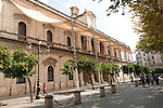Historic Ayuntamiento city hall building in central Seville, Spain