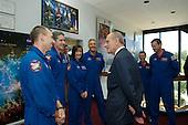 "Prince Philip greets astronauts from STS-125 L to R Andrew J Feustel, Michael T Goode, K. Megan McArthur, Michael J. Massimino, Gregory C. Johnson, and Commander Scott D. Altman.  Photo Credit: ""NASA/Chris Gunn"""