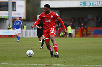 Ricardo German of Crawley Town during Crawley Town vs Oldham Athletic, Sky Bet EFL League 2 Football at Broadfield Stadium on 7th March 2020