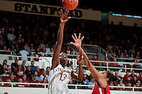 STANFORD, CA--Chiney Ogwumike hooks two points during PAC-12 conference play against Utah  at Maples Pavilion. The Cardinal won the matchup against the Utes 69-42.