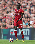 Liverpool's Sadio Mane in action during the premier league match at the Anfield Stadium, Liverpool. Picture date 19th August 2017. Picture credit should read: David Klein/Sportimage