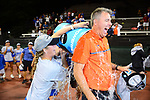 ATHENS, GA - MAY 23: Roland Thornqvist of University of Florida celebrates with his team during the Division I Women's Tennis Championship held at the Dan Magill Tennis Complex on the University of Georgia campus on May 23, 2017 in Athens, Georgia. (Photo by Steve Nowland/NCAA Photos via Getty Images)