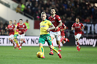 James Maddison of Norwich City runs with the ball during Bristol City vs Norwich City, Sky Bet EFL Championship Football at Ashton Gate on 13th January 2018