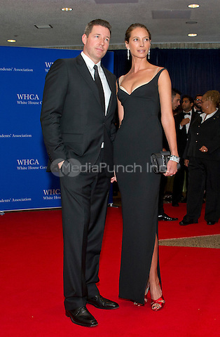 Actor Edward Burns, left, and model Christy Turlington arrive for the 2016 White House Correspondents Association Annual Dinner at the Washington Hilton Hotel on Saturday, April 30, 2016.<br /> Credit: Ron Sachs / CNP<br /> (RESTRICTION: NO New York or New Jersey Newspapers or newspapers within a 75 mile radius of New York City)/MediaPunch