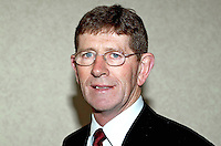 Tommy Gallagher, SDLP candidate for Fermanagh and South Tyrone in 2001 UK General Election. Also MLA in new N Ireland Assembly. Ref: 2001051849<br /> <br /> Copyright Image from Victor Patterson,<br /> 54 Dorchester Park, <br /> Belfast, UK, BT9 6RJ<br /> <br /> t1: +44 28 9066 1296 (from Rep of Ireland 048 9066 1296)<br /> t2: +44 28 9002 2446 (from Rep of Ireland 048 9002 2446)<br /> <br /> m: +44 7802 353836<br /> <br /> e: victorpatterson@me.com<br /> www.victorpatterson.com<br /> <br /> Please see my Terms and Conditions of Use at www.victorpatterson.com. It is IMPORTANT that you familiarise yourself with them.<br /> <br /> Images used on the Internet must be visibly watermarked i.e. © Victor Patterson<br /> within the body of the image and copyright metadata must not be deleted. Images <br /> used on the Internet have a size restriction of 4kbs and will be chargeable at current<br />  NUJ rates unless agreed otherwise.<br /> <br /> This image is only available for the use of the download recipient i.e. television station, newspaper, magazine, book publisher, etc, and must not be passed on to any third <br /> party. It is also downloaded on condition that each and every usage is notified within 7 days to victorpatterson@me.com<br /> <br /> The right of Victor Patterson to be identified as the author is asserted in accordance with The Copyright Designs And Patents Act (1988). All moral rights are asserted.