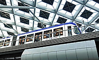 Nederland - Den Haag- 2018. Lightrail in Den Haag Centraal Station. Foto Berlinda van Dam / Hollandse Hoogte