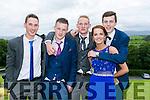 Enjoying the Colaiste na Sceilge Debutante Ball at Ballyroe Heights Hotel on Tuesday were l-r  Morgan O'Sullivan, Joe Driscoll, Gareth Burke, Ryan O'Sullivan, Niamh Casey