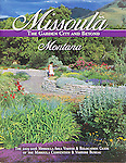 Nelson Kenter photo of the waterwise garden in Missoula, Montana used on a visitor guide