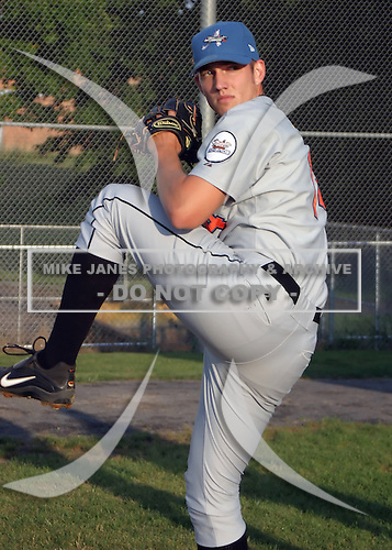August 16, 2003:  Pitcher Chris Ray of the Aberdeen Ironbirds, Class-A affiliate of the Baltimore Orioles, during a game at Falcon Park in Auburn, NY.  Photo by:  Mike Janes/Four Seam Images