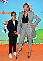 LOS ANGELES, CA. March 23, 2019: Tia Mowry & Cree Hardrict  at Nickelodeon's Kids' Choice Awards 2019 at USC's Galen Center.<br /> Picture: Paul Smith/Featureflash