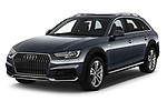 2018 Audi A4 allroad quattro base 5 Door Wagon angular front stock photos of front three quarter view