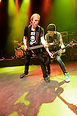 Michael Schenker Group - bassist Francis Bucholz and guitarist Michael Schenker performing live on the Temple of Rock Tour at the Empire Shepherds Bush in London UK - 12 May 2012.  Photo credit: George Chin/IconicPix