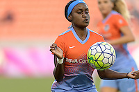 Houston, TX - Saturday July 16, 2016: Chioma Ubogagu during a regular season National Women's Soccer League (NWSL) match between the Houston Dash and the Portland Thorns FC at BBVA Compass Stadium.