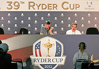 29 SEP 12 Keegan Bradley afte Saturdays foresome matches  at The 39th Ryder Cup at The Medinah Country Club in Medinah, Illinois.