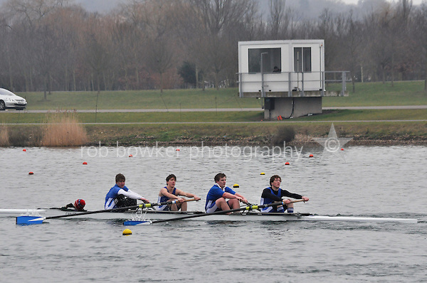 425 CanfordSchBC J17A.4+..Marlow Regatta Committee Thames Valley Trial Head. 1900m at Dorney Lake/Eton College Rowing Centre, Dorney, Buckinghamshire. Sunday 29 January 2012. Run over three divisions.