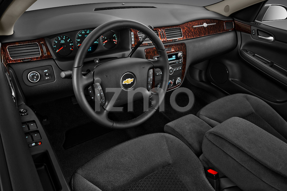 High angle dashboard view of a 2012 Chevrolet Impala LS