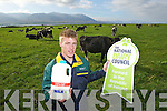 Kerry Football Star Tommy Walsh  at the launch of of new NDC packaging mark which appears on all of Lee Strand milk and cream brands and with the new 2.5 litre milk, which gives the customer 25% more milk free.