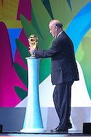 COSTA DO SAUIPE, BA, 06.12.2013 - COPA 2014 - SORTEIO FINAL DA COPA DO MUNDO 2014 -  Tecnico da Espanha Vicente Del Bosque durante o sorteio Final da Copa do Mundo de 2014 na Costa do Sauipe litoral norte da Bahia, nesta sexta-feira, 06. (Foto: Vanessa Carvalho / Brazil Photo Press).