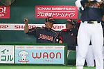 (L to R) . Tsuyoshi Yoda (JPN), . Osamu Higashio (JPN), .MARCH 6, 2013 - WBC : .2013 World Baseball Classic .1st Round Pool A .between Japan 3-6 Cuba .at Yafuoku Dome, Fukuoka, Japan. .(Photo by YUTAKA/AFLO SPORT) [1040]