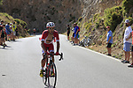 Jose Herrada (ESP) Cofidis on the slopes of Sierra de la Alfaguara  during Stage 4 of the La Vuelta 2018, running 162km from Velez-Malaga to Alfacar, Sierra de la Alfaguara, Andalucia, Spain. 28th August 2018.<br /> Picture: Eoin Clarke   Cyclefile<br /> <br /> <br /> All photos usage must carry mandatory copyright credit (&copy; Cyclefile   Eoin Clarke)