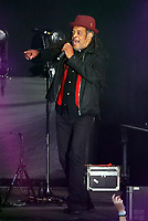 Astro of UB40 on stage<br /> UB40 concert at Parc Y Scarlets, Llanelli, Wales, UK. Saturday 10 June 2017
