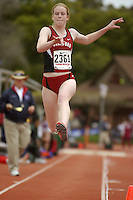 31 March 2006: Lauren Stewart during Stanford's Track & Field Invitational at Cobb Track & Angell Field in Stanford, CA.