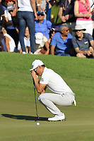 Haotong Li (CHN) misses his birdie putt on the 16th green during Sunday's Final Round of the 2018 Turkish Airlines Open hosted by Regnum Carya Golf &amp; Spa Resort, Antalya, Turkey. 4th November 2018.<br /> Picture: Eoin Clarke | Golffile<br /> <br /> <br /> All photos usage must carry mandatory copyright credit (&copy; Golffile | Eoin Clarke)