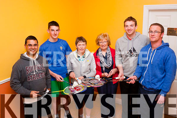 Enjoying the Ballyheigue Badminton club County invitation tournament last Sunday were L-R Navroop Johnson&Michael Shannon,Killarney,Ann Leahy,Ballyheigue,Eileen Roche,Moyvane,Alan O'Connor,Listowel and Michael Nolan,Moyvane.