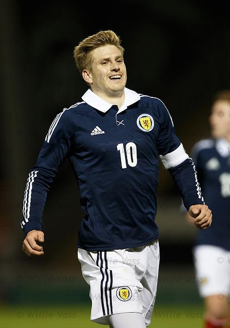Stuart Armstrong celebrates