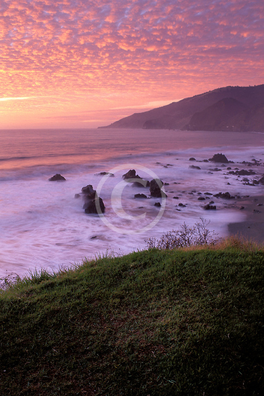 California, Big Sur, Sunset, Kirk Creek, Lucia