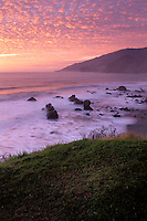 California, Big Sur, Sunset, Kirk Creek, Lucia