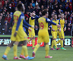 Arsenal's Olivier Giroud celebrates scoring his sides opening goal<br /> <br /> Barclays Premier League - Crystal Palace  vs Arsenal  - Selhurst Park - England - 21st February 2015 - Picture David Klein/Sportimage