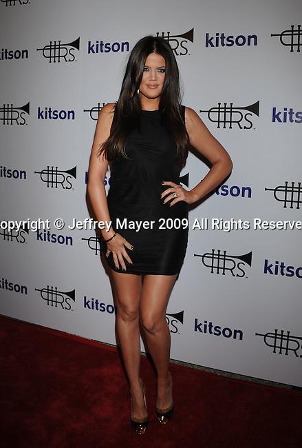 WEST HOLLYWOOD, CA. - October 21: Khloe Kardashian arrives at the Lamar Odom launch of Rich Soil Fashion Line at Kitson L.A. on October 21, 2009 in West Hollywood, California.