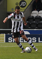 Dougie Imrie in the St Mirren v Hibernian Clydesdale Bank Scottish Premier League match played at St Mirren Park, Paisley on 29.4.12.