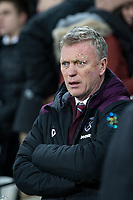 West Ham United Manager David Moyes ahead of the Premier League match between West Ham United and Arsenal at the Olympic Park, London, England on 13 December 2017. Photo by Andy Rowland.