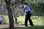 Damien McGrane (IRL) in trouble on the 5th hole during Day 1 Thursday of the Open de Andalucia de Golf at Parador Golf Club Malaga 24th March 2011. (Photo Eoin Clarke/Golffile 2011)