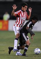 DC United forward Thabiso Khumalo (17) shields the ball against Chivas USA Jesus Padilla (10)   Chivas USA defeated DC United 2-0  at RFK Stadium, Saturday October 3, 2009.