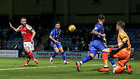 Fleetwood Town's Paddy Madden misses from close range<br /> <br /> Photographer Andrew Kearns/CameraSport<br /> <br /> The EFL Sky Bet League One - Gillingham v Fleetwood Town - Saturday 3rd November 2018 - Priestfield Stadium - Gillingham<br /> <br /> World Copyright &copy; 2018 CameraSport. All rights reserved. 43 Linden Ave. Countesthorpe. Leicester. England. LE8 5PG - Tel: +44 (0) 116 277 4147 - admin@camerasport.com - www.camerasport.com