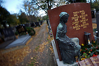 """Allerheiligen (All Saints) at Vienna's """"Zentralfriedhof"""" (""""Central Cemetary""""), the city's biggest graveyard."""