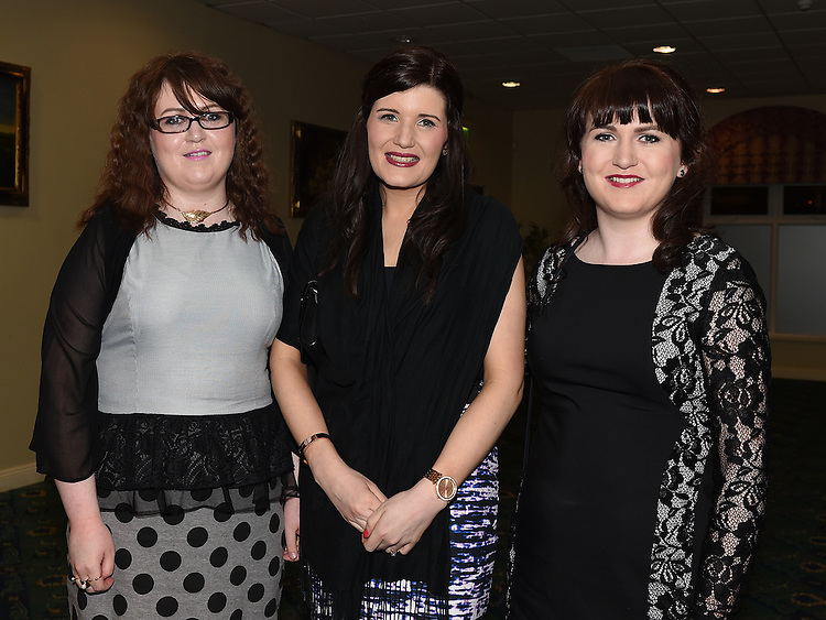 Kelley McCormack, Christine Kirk and Caroline McCormack pictured at the Termonfeckin Macra reunion in the Boyne Valley hotel. Photo:Colin Bell/pressphotos.ie